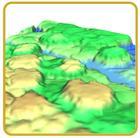 Modelo 3D creado con GRASS